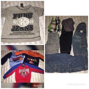 10-piece 12M bundle of little boy clothes